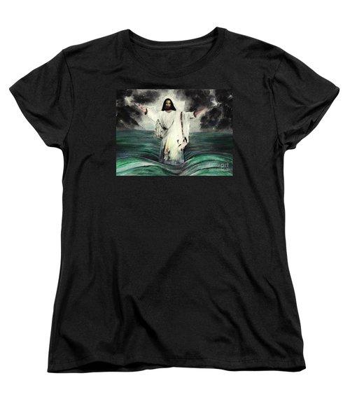 I Am Will Calm Your Sea Women's T-Shirt (Standard Cut) by Hazel Holland