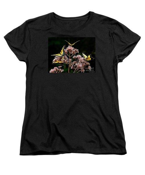 I Love Butterflies  Women's T-Shirt (Standard Cut) by Christy Ricafrente