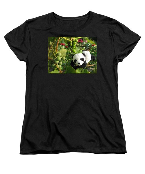 Women's T-Shirt (Standard Cut) featuring the photograph I Love Grapes B by Ausra Huntington nee Paulauskaite