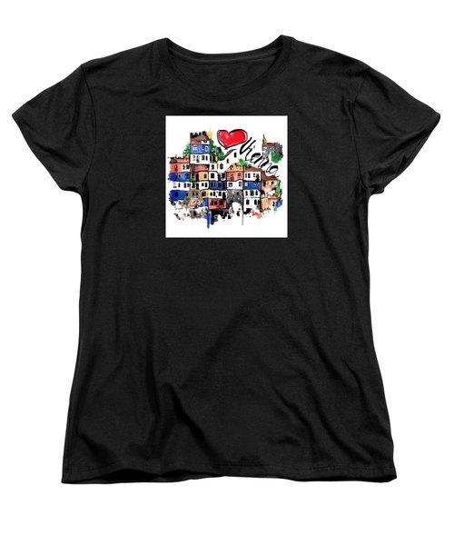 Women's T-Shirt (Standard Cut) featuring the drawing I Love Vienna  by Sladjana Lazarevic