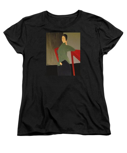 Women's T-Shirt (Standard Cut) featuring the painting I Simply Refuse To Listen by Bill OConnor