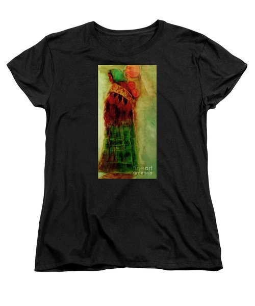 Women's T-Shirt (Standard Cut) featuring the painting I Walk by FeatherStone Studio Julie A Miller