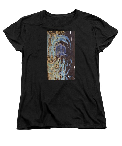 I Wish You Peace - Graffiti Women's T-Shirt (Standard Cut) by Jane Eleanor Nicholas