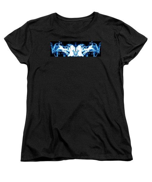 Ice Blue Women's T-Shirt (Standard Cut) by Sumit Mehndiratta