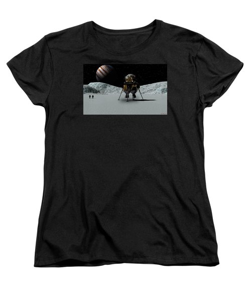 Women's T-Shirt (Standard Cut) featuring the digital art Icefield Landing by David Robinson