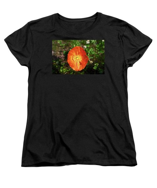Women's T-Shirt (Standard Cut) featuring the photograph Iceland Poppy by Sally Weigand