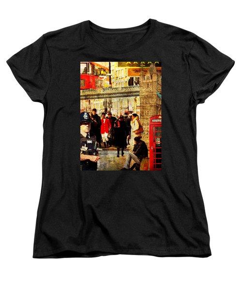 Iconic London Women's T-Shirt (Standard Cut) by Judi Saunders