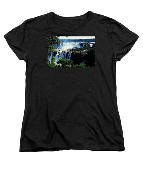 Iguacu Waterfalls Women's T-Shirt (Standard Cut) by Juergen Weiss
