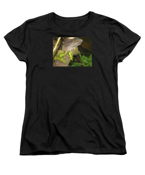 Iguana - A Special Garden Guest Women's T-Shirt (Standard Cut) by Christiane Schulze Art And Photography