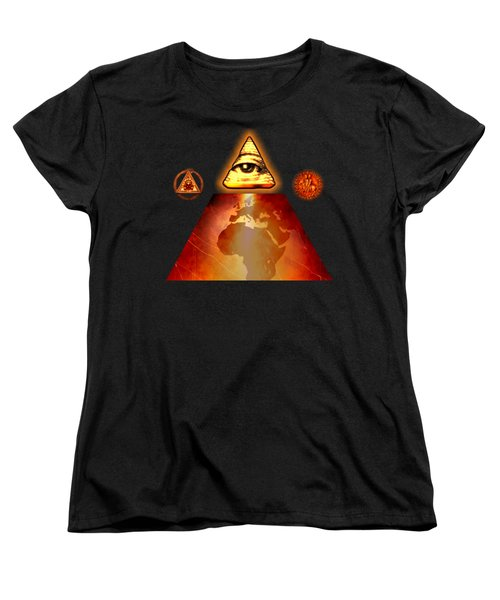 Illuminati World By Pierre Blanchard Women's T-Shirt (Standard Cut) by Pierre Blanchard