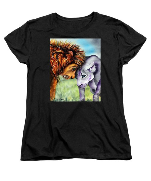Women's T-Shirt (Standard Cut) featuring the painting I'm In Love With You by Maria Barry