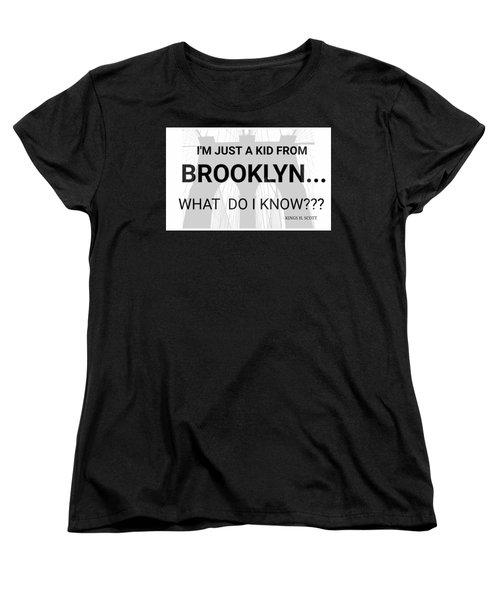 I'm Just A Kid... Women's T-Shirt (Standard Cut) by Pat Odom