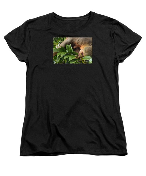Women's T-Shirt (Standard Cut) featuring the photograph I'm Trying To Eat Here by Pamela Blizzard
