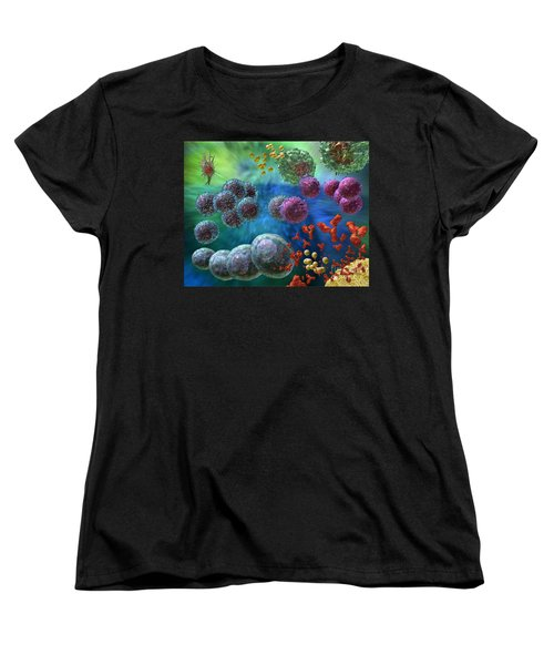 Immune Response Antibody 4 Women's T-Shirt (Standard Cut) by Russell Kightley
