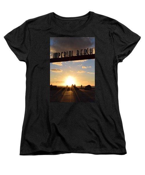 Imperial Beach At Sunset Women's T-Shirt (Standard Cut) by Karen J Shine