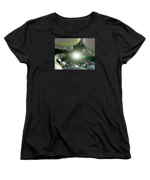 Women's T-Shirt (Standard Cut) featuring the digital art In A Galaxy Far Far Far Away by Melissa Messick