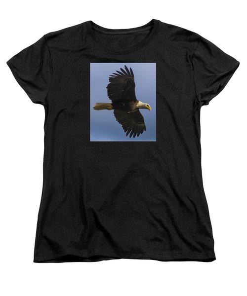 Women's T-Shirt (Standard Cut) featuring the photograph In Flight by Gary Lengyel