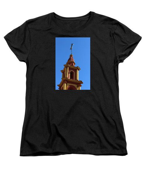 In Mexico Bell Tower Women's T-Shirt (Standard Cut) by Cathy Anderson