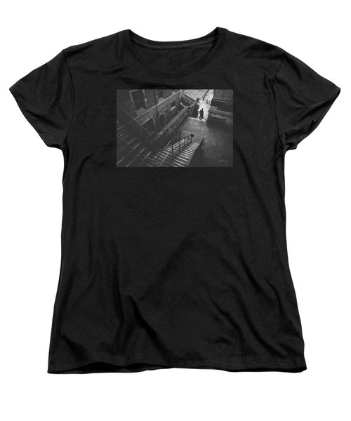 In Pursuit Of The Devil On The Stairs Women's T-Shirt (Standard Cut) by Joseph Westrupp