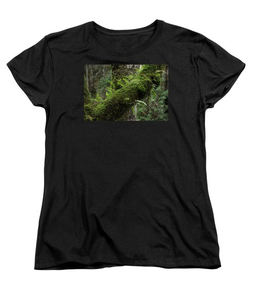 Women's T-Shirt (Standard Cut) featuring the photograph In The Cool Of The Forest by Mike Eingle