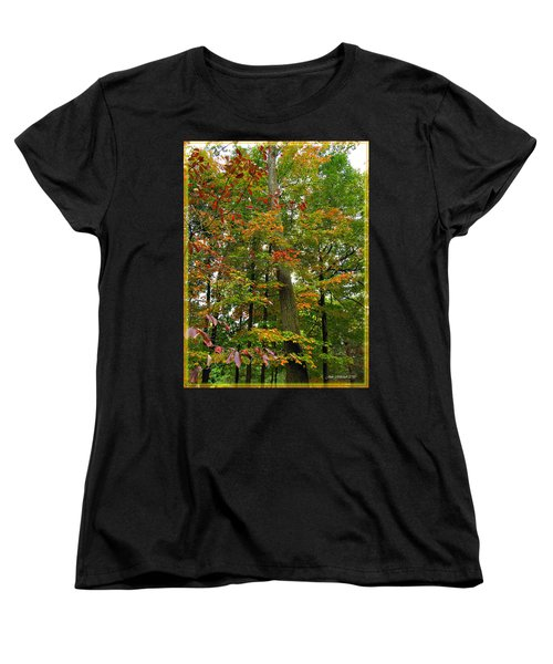 Women's T-Shirt (Standard Cut) featuring the photograph In The Height Of Autumn by Joan  Minchak