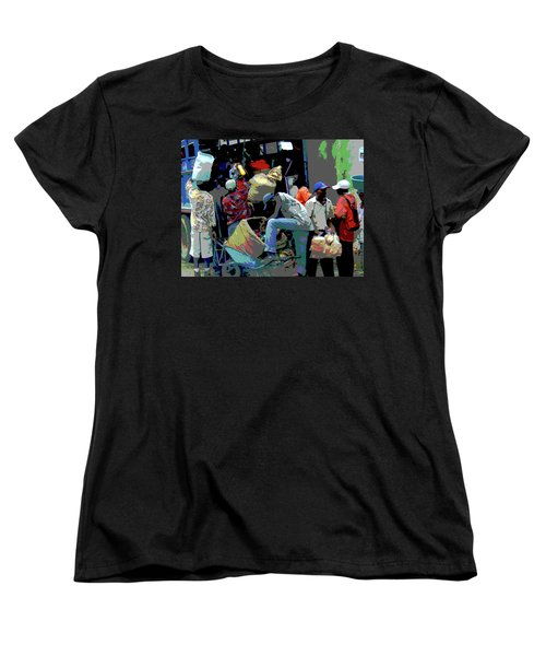 In The Market Place Women's T-Shirt (Standard Cut) by B Wayne Mullins