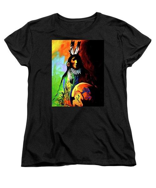 Indian Shadows Women's T-Shirt (Standard Cut) by Lance Headlee