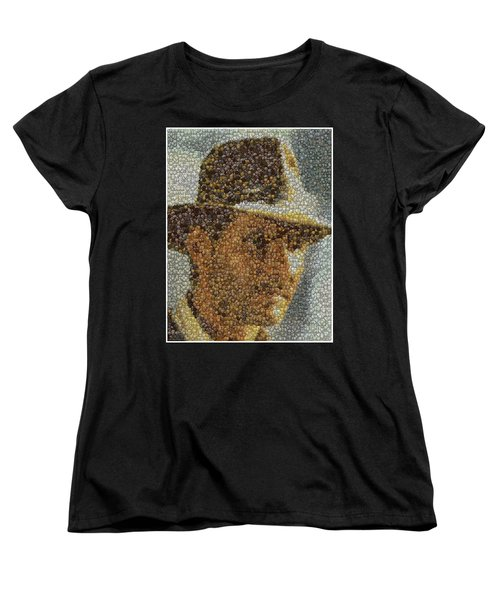 Women's T-Shirt (Standard Cut) featuring the mixed media Indiana Jones Treasure Coins Mosaic by Paul Van Scott
