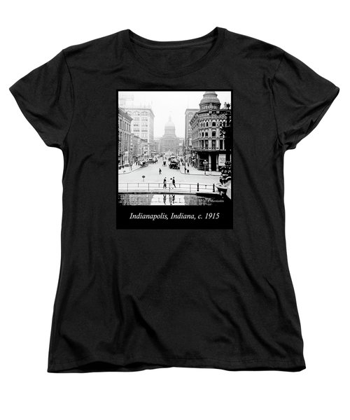 Indianapolis, Indiana, Downtown Area, C. 1915, Vintage Photograp Women's T-Shirt (Standard Cut) by A Gurmankin