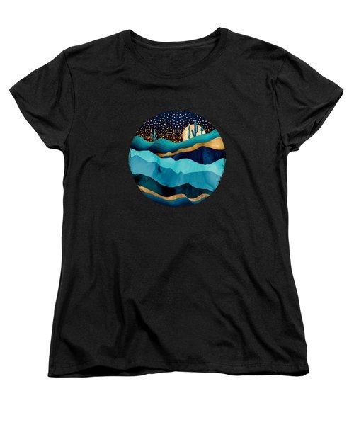 Indigo Desert Night Women's T-Shirt (Standard Fit)