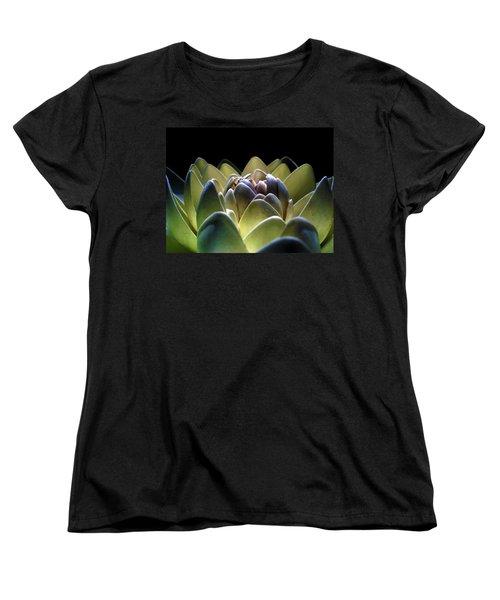 Indonesian White Lotus Women's T-Shirt (Standard Cut) by Sumit Mehndiratta