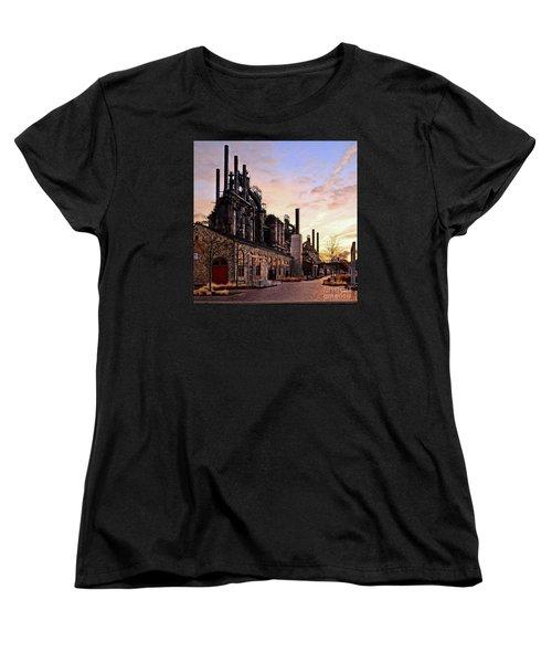 Women's T-Shirt (Standard Cut) featuring the photograph Industrial Landmark by DJ Florek