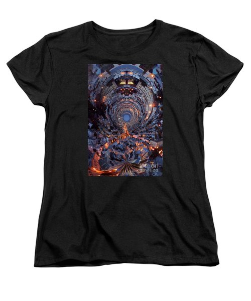 Inside A Space Station To The Galaxy Far Women's T-Shirt (Standard Cut) by Wernher Krutein