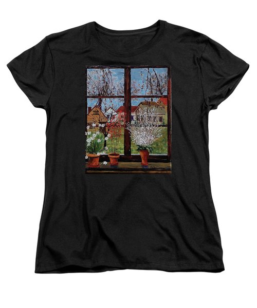 Inside Looking Out Women's T-Shirt (Standard Cut) by Mike Caitham