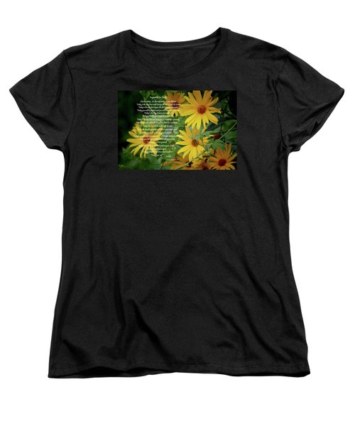 Inspiration For Today Floral Women's T-Shirt (Standard Cut) by Cathy  Beharriell