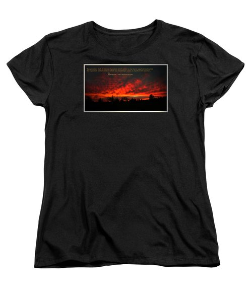 Women's T-Shirt (Standard Cut) featuring the photograph Inspiration by Joyce Dickens