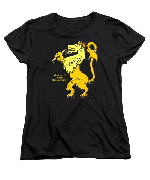 Women's T-Shirt (Standard Cut) featuring the drawing Inspirational - The Lion Of Judah by Glenn McCarthy Art and Photography