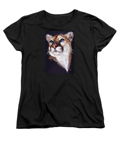 Women's T-Shirt (Standard Cut) featuring the drawing Intense by Barbara Keith