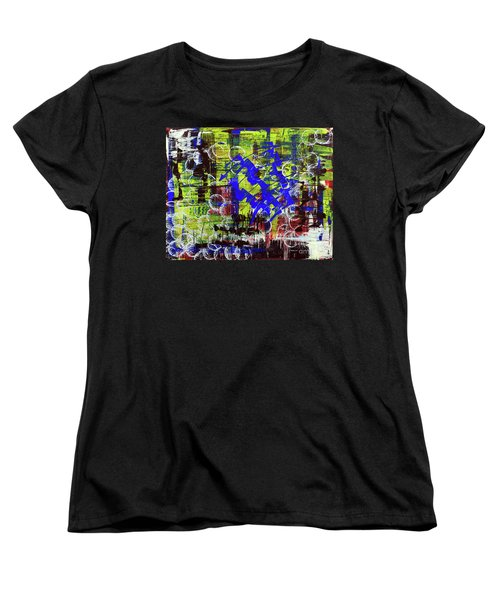 Women's T-Shirt (Standard Cut) featuring the painting Intensity by Cathy Beharriell