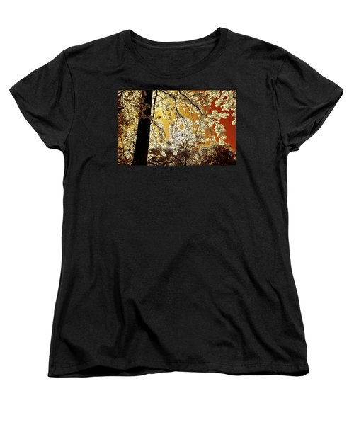 Women's T-Shirt (Standard Cut) featuring the photograph Into The Golden Sun by Linda Unger