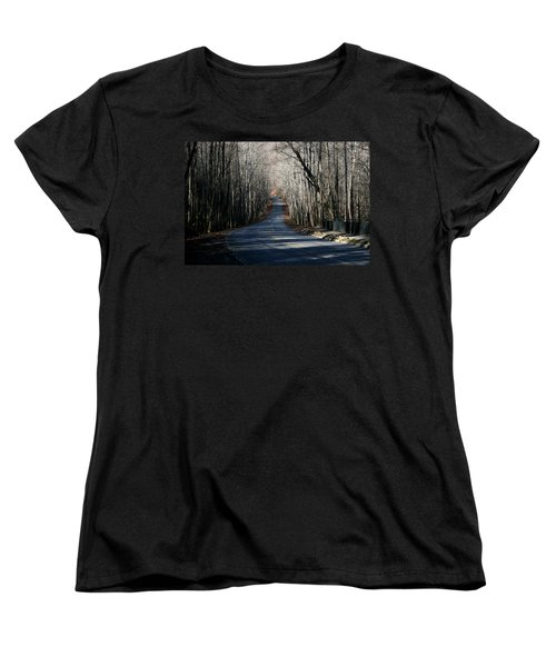 Women's T-Shirt (Standard Cut) featuring the photograph Into The Woods by Cathy Harper