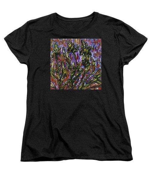 Irises Carousel Women's T-Shirt (Standard Cut) by Vadim Levin