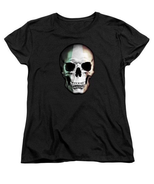 Women's T-Shirt (Standard Cut) featuring the digital art Irish Skull by Nicklas Gustafsson