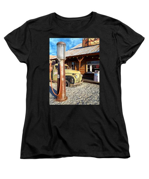 Women's T-Shirt (Standard Cut) featuring the photograph Is That You - Route 66 California by Glenn McCarthy Art and Photography