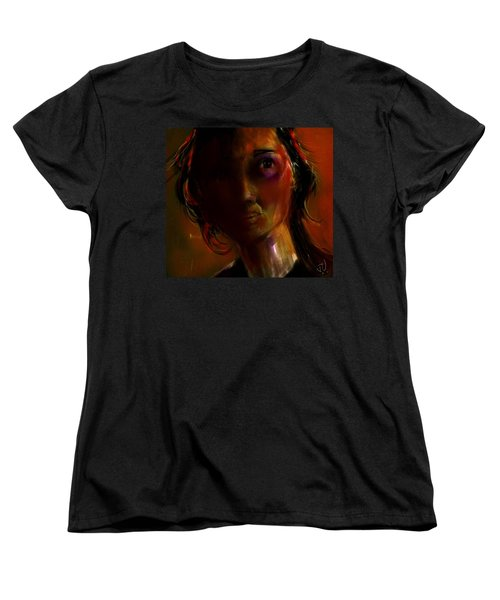 Women's T-Shirt (Standard Cut) featuring the painting Isabella by Jim Vance
