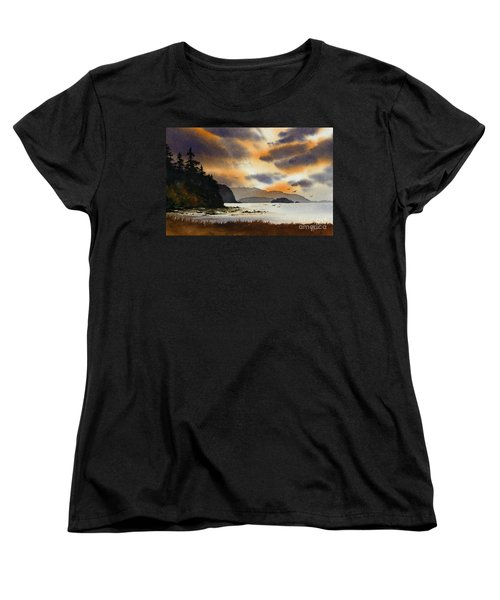 Women's T-Shirt (Standard Cut) featuring the painting Islands Autumn Sky by James Williamson