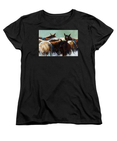 Its All About The Brush Stroke Women's T-Shirt (Standard Cut) by Frances Marino