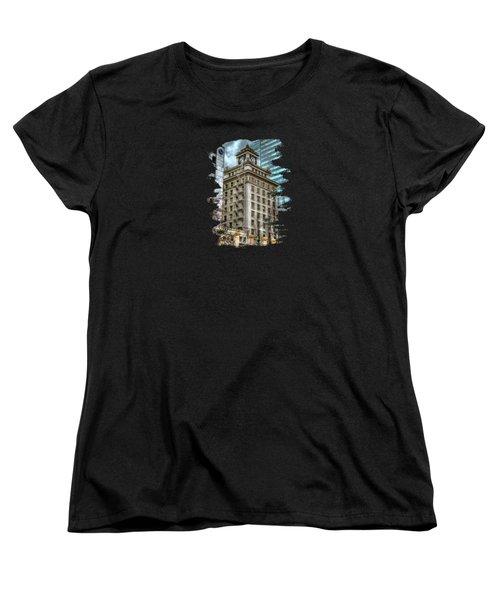 Jackson Tower Portland Oregon Women's T-Shirt (Standard Cut) by Thom Zehrfeld