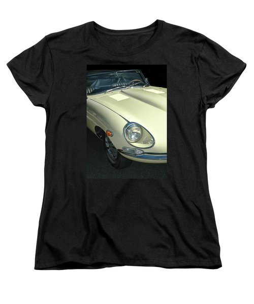 Jaguar Xke Roadster Women's T-Shirt (Standard Cut) by Dave Mills