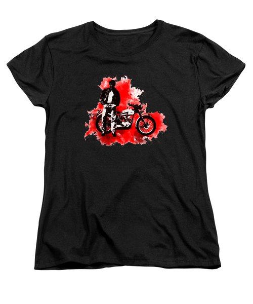 James Dean And Triumph Women's T-Shirt (Standard Cut)